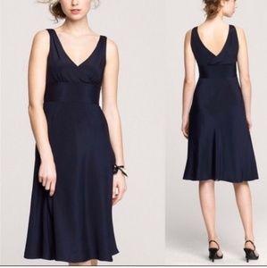 J. Crew Sophia 100% Silk Dress Black Size P4